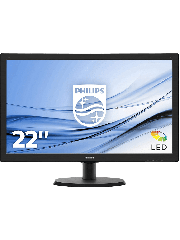 Brand New Philips 223V5LSB2 21.5-inch Widescreen TN W-LED Monitor-Black (1920x1080/5ms/VGA)