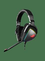 Asus ROG DELTA RGB Gaming Headset, USB-C (USB2 Adapter), Hi-Fi ESS Quad-DAC, Boom Mic, Aura Sync