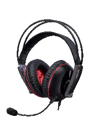 Asus CERBERUS Gaming Headset V2, 53mm Drivers, Braided Cable, Red