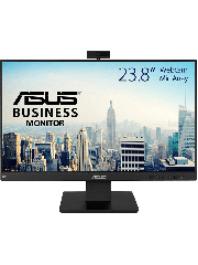 "Asus 23.8"" Frameless Business Monitor (BE24EQK) with FHD Webcam, Mic Array, IPS, 1920 x 1080, VGA, HDMI, DP, Speakers, VESA"