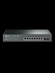 TP-Link (T1500G-10MPS) 8-Port Gigabit Smart POE+ Switch, 2 SFP Slots, VLAN
