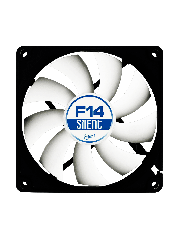 Arctic F14 Silent 14CM Case Fan, 9 Blades, Fluid Dynamic - Black & White