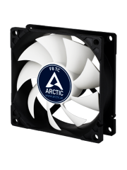 Arctic F8 8CM Temperature Controlled Case Fan, Fluid Dynamic - Black & White