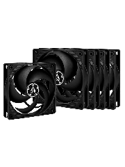 Arctic P12 Pressure Optimised 12CM Case Fans x5, Fluid Dynamic, Value Pack (5 Fans) - Black