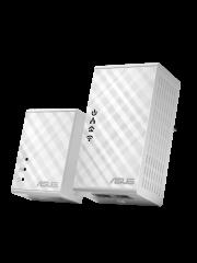 Asus (PL-N12 KIT) 300Mbps AV500 Wireless N Powerline Adapter Kit, 2-Port