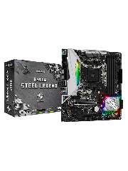 Asrock B450M STEEL LEGEND, AMD B450, AM4, Micro ATX, 4 DDR4, HDMI, DP, XFire, Rock-Solid Durability