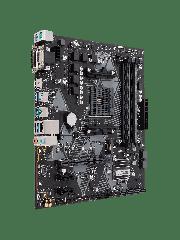 Asus PRIME B450M-K, AMD B450, AM4, Micro ATX, 2 DDR4, VGA, DVI, M.2, LED Lighting