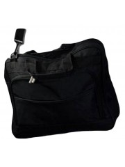 Black Laptop Bag - Up to 15.5 inch - Shoulder Strap - Fabric