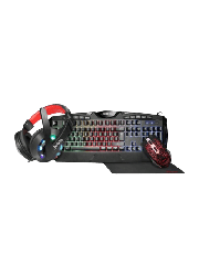 Brand New Jedel CP-04 Knights Templar Elite 4-in-1 Gaming Kit - Backlit RGB Keyboard, 1000 DPI RGB Mouse, 40mm Driver RGB Headset, XL Mouse Mat