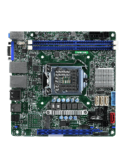 Asrock Rack E3C246D2I Server Board, Intel C246, 1151, Mini ITX, DDR4, VGA, Dual GB LAN, IPMI LAN, M.2