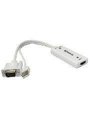 Sandberg VGA & Audio Male To HDMI Female Converter Cable - White