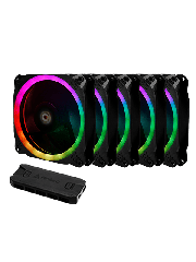Antec Prizm 120 ARGB PWM RGB Kit, 5 X 12CM Case Fans + Controller