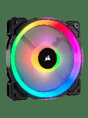 Corsair LL120 12CM PWM Case Fan, 16 LED RGB Dual Light Loop, Hydraulic Bearing - Black with RGB LEDs