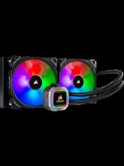 Corsair Hydro H115i PRO 280mm RGB Liquid CPU Cooler, 2 x 14cm PWM Fans, RGB LED Pump Head