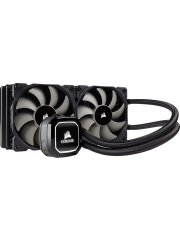 Corsair Hydro H100X 240mm Liquid CPU Cooler, 2 x 12cm PWM Fans, LED Pump Head
