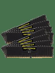 Corsair Vengeance LPX 128GB Kit (8 x 16GB), DDR4, 2666MHz (PC4-21300), CL16, XMP 2.0, DIMM Memory