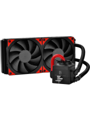 Deepcool GamerStorm Captain 240EX Liquid CPU Cooler, 240mm Radiator, 2 x 12cm Fans, Bionic Red LED