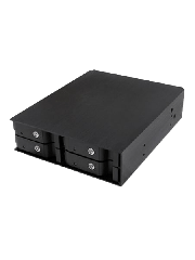 "Icy Box Backplane for 4 x 2.5"" HDD/SSD Drives, Fits 5.25"" Bay, Aluminium, Lockable"