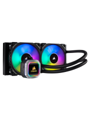 Corsair Hydro H100i RGB Platinum 240mm RGB Liquid CPU Cooler, 2 x 12cm PWM Fans