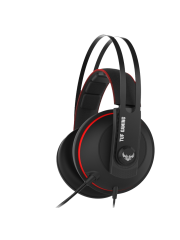 Asus TUF Gaming H7 Core Gaming Headset, 53mm Driver, 3.5mm Jack, Boom Mic, Stainless-Steel, Red