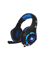 Sandberg Twister Gaming Headset, 40mm Drivers, Comfortable Padding, 3.5mm Jack, LED Lighting, 5 Year Warranty