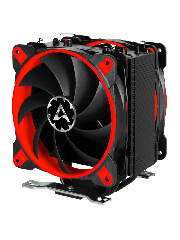 Arctic Freezer 33 eSports Edition, Intel & AM4 Sockets, 2 X Fans, Fluid Dynamic Bearing, Heatsink & Fan - Black & Red