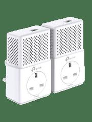 TP-LINK (TL-PA7010P KIT) AV1000 GB Powerline Adapter Kit, 1-Port, AC Pass Through
