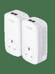 TP-LINK (TL-PA9020P KIT) AV2000 GB Powerline Adapter Kit, AC Pass Through, 2 Ports