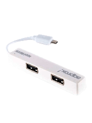 Approx (APPHM4W) External 4-Port USB 2.0 Android Hub for Tablets/Smartphones, Micro USB - White