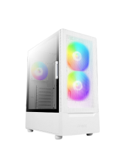 Antec NX410 Gaming Case w/ Glass Window, ATX, 3 x ARGB Fans, LED Control Button, Mesh Front, White