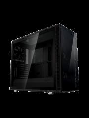 Fractal Design Define S2 Vision Blackout Gaming Case w/ Dark Tint Glass Windows, E-ATX, 4 PWM Fans, USB-C