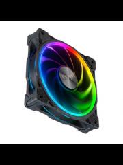 Akasa SOHO AR 12cm ARGB PWM Case Fan, 500-2000 RPM, Anti-Vibration, Fluid-Dynamic Bearing, Silent Operation