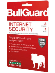 Bullguard Internet Security 2019 Retail, 3 User - Single, PC, Mac & Android, 1 Year