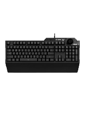 Brand New Asus TUF GAMING K1 RGB Keyboard with Volume Knob, 19-key Rollover, Side Light Bar & Armoury Crate, Spill Resistant, Detachable Wrist Rest