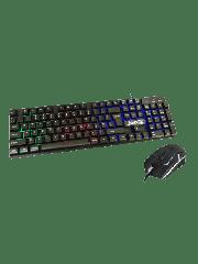 Brand New Jedel GK100 RGB Gaming Desktop Kit, Backlit Membrane RGB Keyboard & 800-1600 DPI LED Mouse, Black