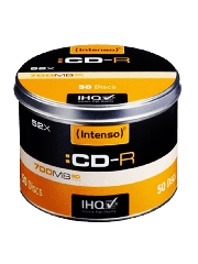 Intenso CD-R, 700MB 80-Minutes, 52X Speed, Cake Box of 50