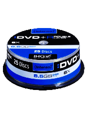 Intenso DVD+R, 8.5GB, 8X Speed, Dual Layer, Slim Case of 25