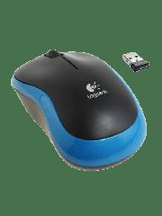 Brand New Logitech M185 Wireless Notebook Mouse, USB Nano Receiver, Black/Blue