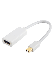 Sandberg Mini DisplayPort Male to HDMI Female Converter Cable, Supports 4K - White