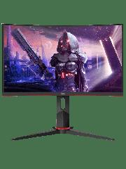 Brand New AOC C24G2U/BK 23.6-inch Widescreen VA LED Multimedia Curved Monitor-Black/Red (1920x1080/1ms/VGA/1xDP/2xHDMI)