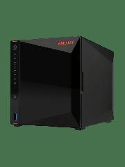 ASUSTOR NIMBUSTOR 4 (AS5304T) 4-Bay NAS Enclosure, Quad Core 2.5GHz CPU, 4GB DDR4, USB3.2, 2.5 GbE Ports, Diamond-cut Exterior