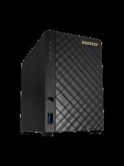 ASUSTOR AS1002T 2-Bay NAS Enclosure (No Drives), Dual Core 1GHz CPU, 512MB, USB3, GB LAN, Diamond-Plate Finish