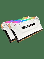 Corsair Vengeance RGB 16GB Kit (2 x 8GB), DDR4, 2666MHz (PC4-21300), CL16, XMP 2.0, DIMM Memory