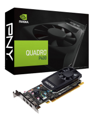 PNY Quadro P400 Professional Graphics Card, 2GB DDR5, Low Profile (Bracket Included)