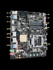 Asus Q170T/CSM - Corporate Stable Model, Intel Q170, 1151, Thin Mini ITX, DDR4 SODIMM, M.2, Dual GB LAN, HDMI, DP, DC Power