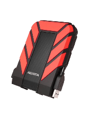 "ADATA 2TB HD710 Pro Rugged External Hard Drive, 2.5"", USB 3.1, IP68 Water/Dust Proof, Shock Proof, Red"