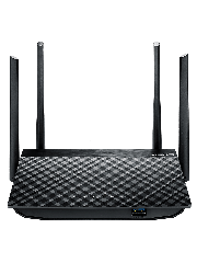 Asus (RT-AC58U) AC1300 (400+867) Wireless Dual Band GB Cable Router, 3G/4G Data Sharing, USB 3.0 - Black