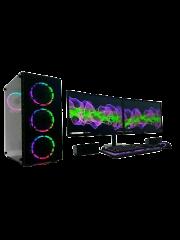 Gaming PC Bundle/ Core i7-3770/ 32GB RAM/ 240GB SSD+1TB HDD/ GT1030 2GB/ Dual 23-Inch Monitor/ Windows 10/ A