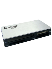 Sandberg (133-46) External Multi Card Reader, USB Powered, Black & White, 5 Year Warranty