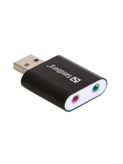 Sandberg External Soundcard, USB - Black